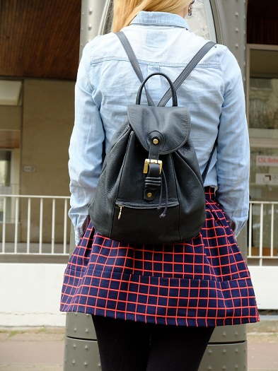 once-in-paris-denim-chequered-skirt-preppy4