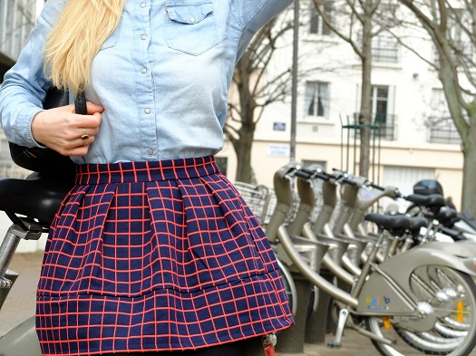 once-in-paris-denim-chequered-skirt-preppy6