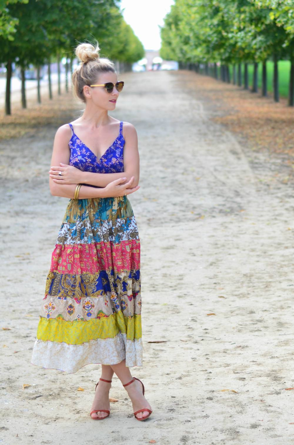 Blog mode Paris: Une robe midi bohême - hippie chic  Once, in Paris